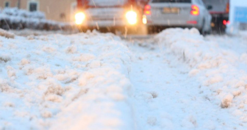 sneg, cesta